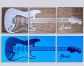 Custom Guitar Art on 3 Sp...