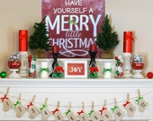 Have Yourself A Merry Little Christmas Holiday Decor Sign - Pick your size - Made in the USA