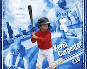 "Baseball Sports Collage 16x20"" Photoshop Template for photographers"