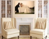 Personal Family Wedding Pet Photo Printed on Canvas
