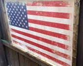 Distressed AMERICAN Flag ...