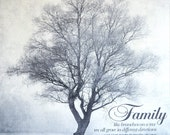 Shabby Chic Rustic Farmhouse Family Tree Artwork Like Branches on a Tree - Home Decor Can be Personalized - Made in USA
