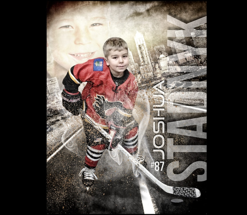 Custom Hockey Sports Poster Collage for ANY SPORT team or image 0