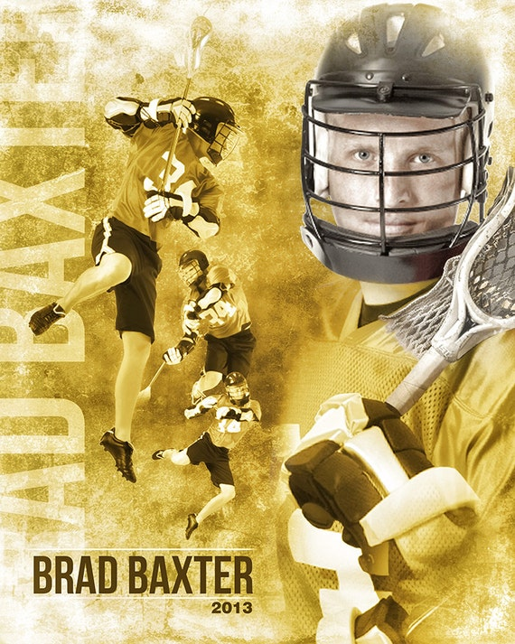 lacrosse sports collage 16x20 photoshop template for etsy