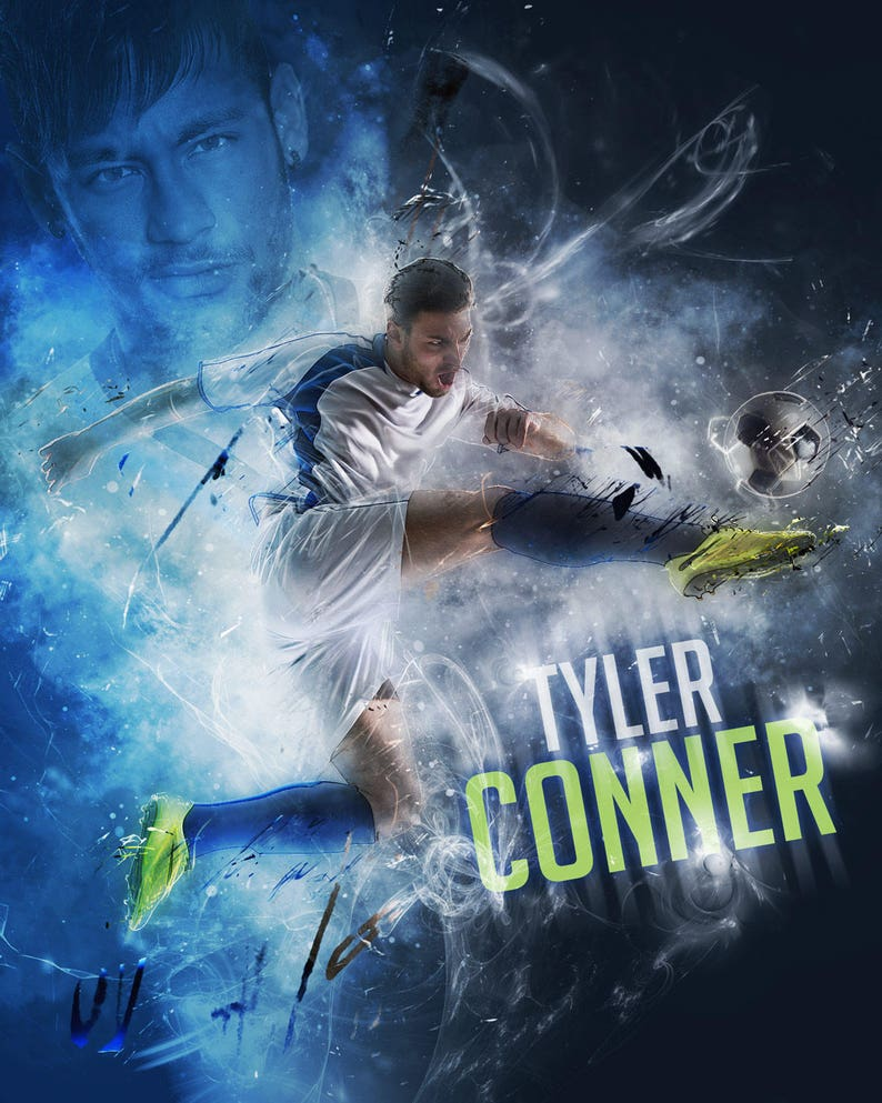 Custom Soccer Poster Collage for ANY SPORT team or athlete  image 0