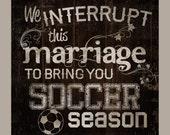 SOCCER season. We interru...