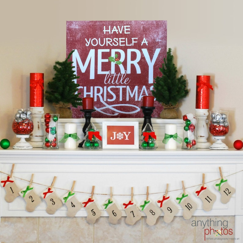 Have Yourself A Merry Little Christmas Holiday Decor Sign  image 0