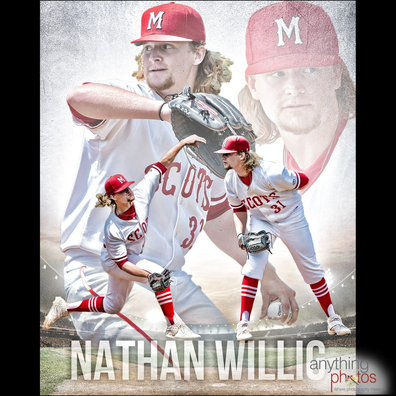 Baseball or ANY Sport Collage Design for team youth athlete image 0