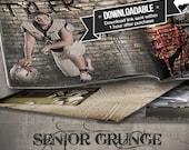 Grunge Senior Photo Book Save the Date Graduation Announcement Photo Book Card 12 Unique Photoshop Templates Download