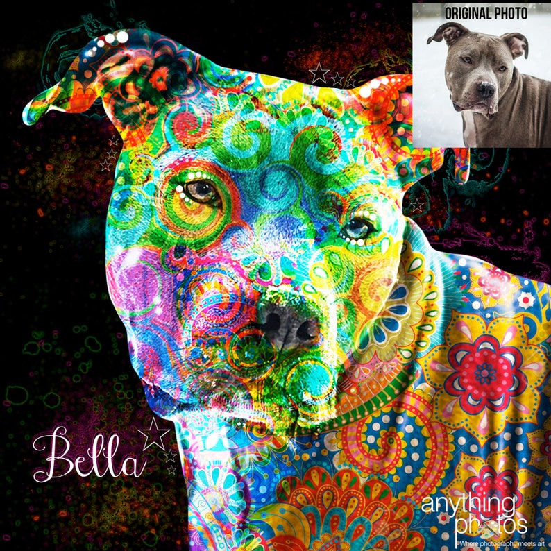 Original modern artwork made from your Pet Dog Baby Personal image 0