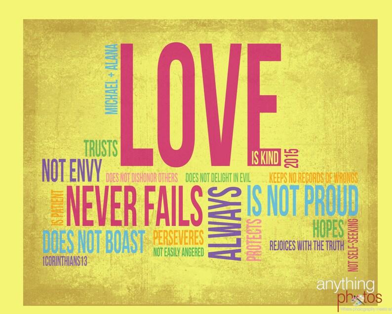Love is Patient  Love is Kind 1 Corinthians 13 Bible verse image 0