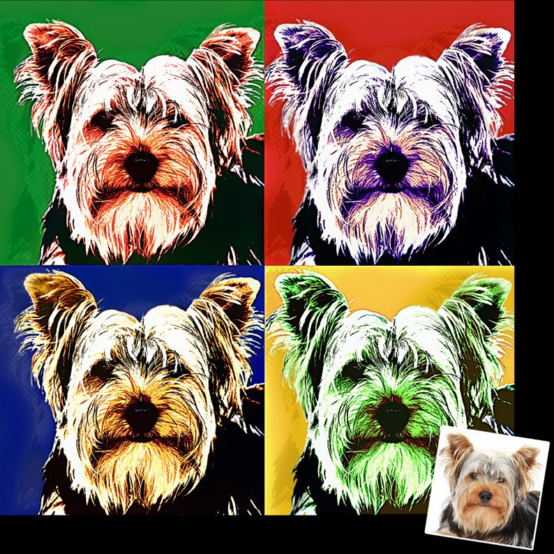 Personalized Photo Andy Warhol Inspired Pop Art Cartoon Effect image 0