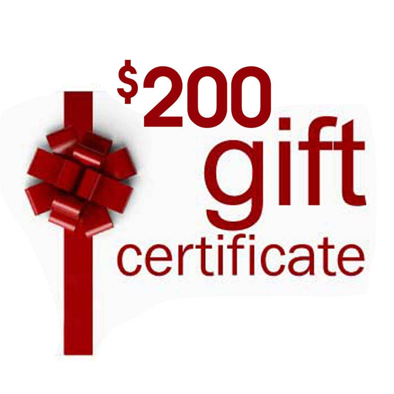 Gift Certificate Anything Photos Custom Personalized Artwork image 0