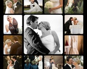 Personal Photo Collage Wedding - Mother's Day - Senior photos, Family photos, personal photos portrait Printed on Wood Panel or Canvas