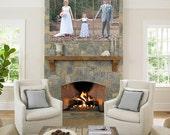 Personal Family Wedding Pet Photo Printed on Split Tri Three Canvas
