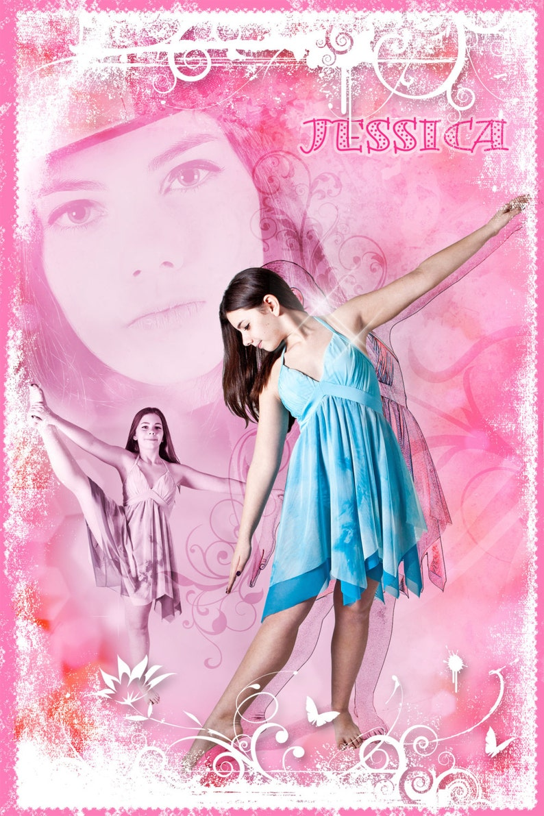Ballet Dance Collage 24x36 Photoshop Template for image 0
