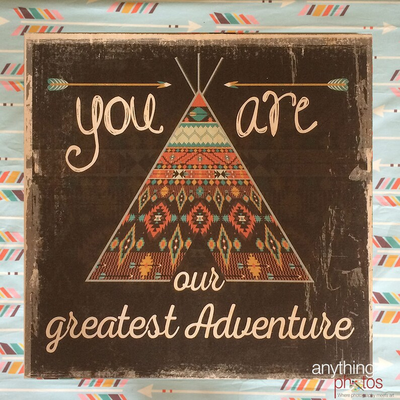 You are Our Greatest Adventure Wood panel sign Baby Decor image 0
