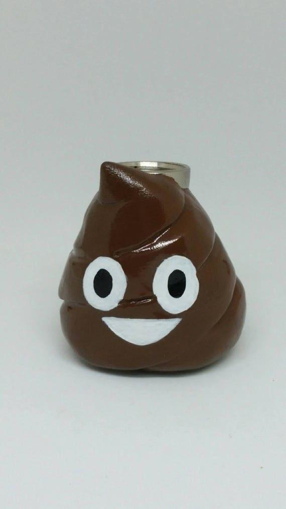 Poop Pipe Emoji Pipe Smoking Pipe Apple Phone Poo Pipe Logo Clay Sculpture