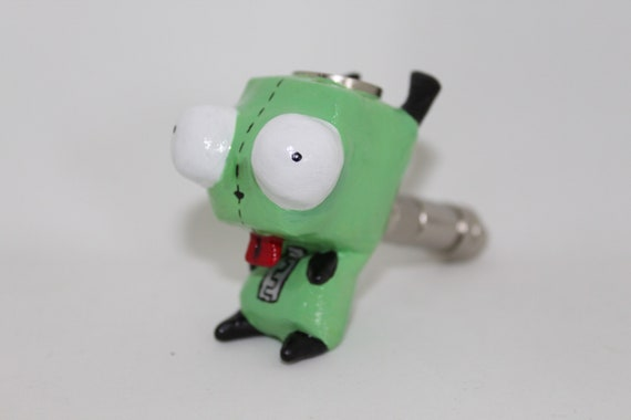 Grr Pipe Invader Zim Pipe Cute Dog Pipe Puppet Cartoon Smoking Etsy