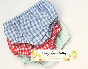 Gingham Bloomers, Gingham Diaper Covers,  Cake Smashing, Coming Home, Baby Shower Gift