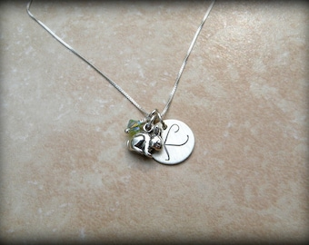 Personalized bunny rabbit necklace, Year of the rabbit necklace, Bunny necklace
