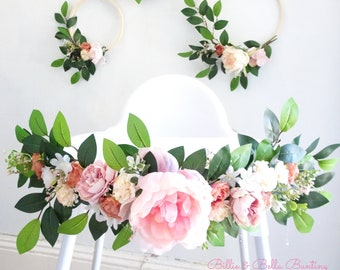 Baby Girl Décoration Bunting Rose Gris Feutre Balle Pompon Garland Nursery Wall Decor