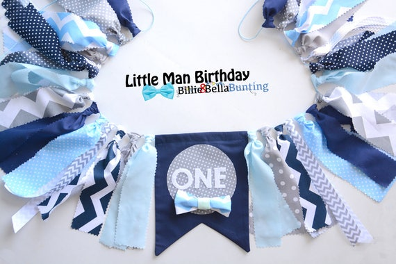 Little Man Banner Birthday Decorations Bow Tie