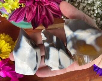 Orca Agate Flames Crystals Witchy Decor Altar Decor