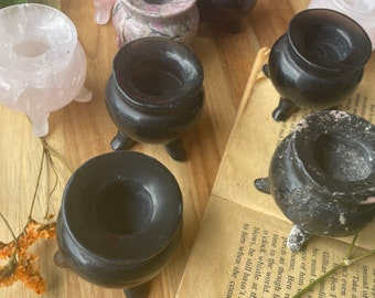 Cauldrons Carvings Crystals Altar Decor Witchy Decor Witch Decor