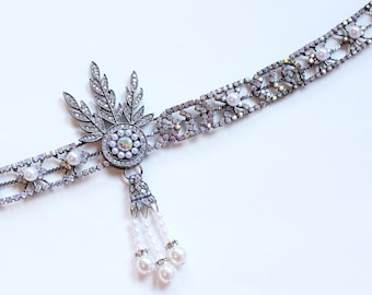 The Great Gatsby headpiece Daisy Flapper Headband Roaring 20s Gatsby Dress Flapper Bridal Headpiece 1920s wedding headband Bridal Headband