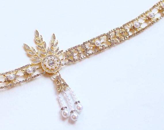 The Great Gatsby headpiece Daisy Flapper Headband Roaring 20s Gatsby Dress Flapper Headpiece Bridal 1920s wedding headband Bridal Headpiece