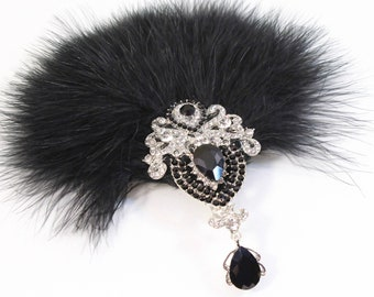 Gatsby 1920s Feather Fascinator | 20s hair piece 1920's hair clip Gatsby Feather Flapper Dress Hen Party Bachelorette party Gatsby Dress