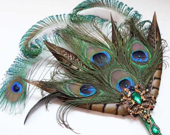 Peacock feather fan brooch bouquet Groom Amherst Feather Boutonniere Bridesmaid Wedding Bouquet Groomsmen Boutonniere Lapel Pin Gatsby Party