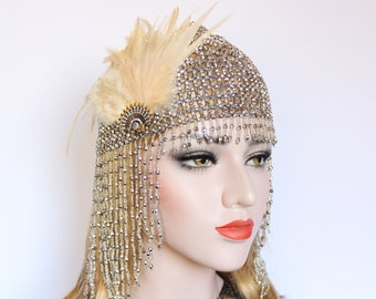 Silver Headpiece for Great Gatsby Party or Event | 1920s Headband | Bridal Headpiece | Egypt Cleopatra Costume | Matches Roaring 20s Dress