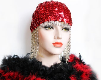 BEADED CAP HEADPIECE