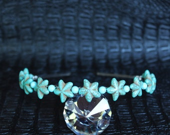 Turquoise Starfish Headpiece Mermaid Crown Mermaid headband Gemstone Crown Starfish Tiara Destination Beach Wedding
