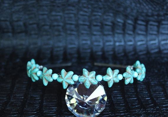 Turquoise Starfish Headpiece Mermaid Crown Mermaid headband Gemstone Crown Starfish Tiara Destination Beach Wedding