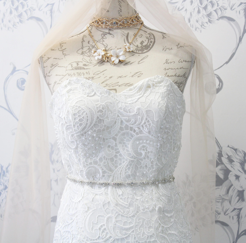 Silver Crystal Wedding Sash Skinny Bridal Belt Wedding Dress Belt ...