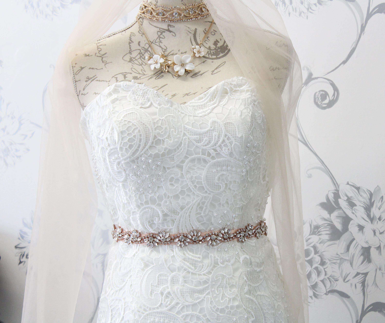 Crystal Bridal Sash,Rhinestone Bridesmaids Wedding Dress Sash Belt with Ribbon