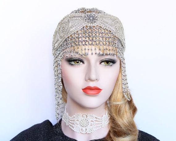 Art Deco Gatsby Headpiece 1920s Gatsby Dress Roaring 20s  4452de22ab33