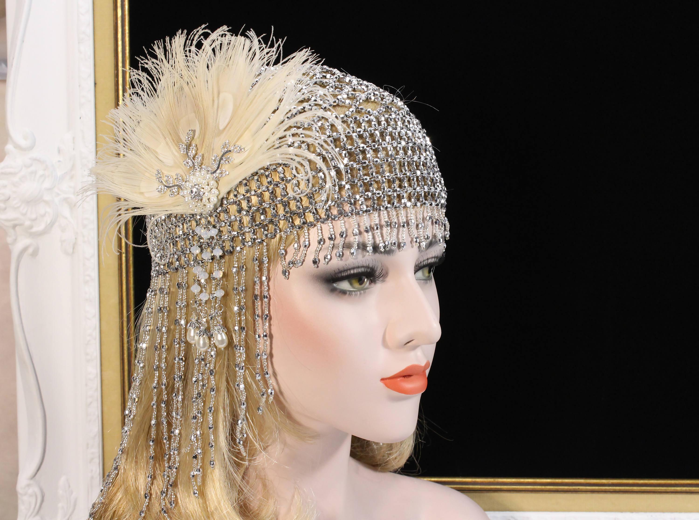 1920er Jahren große Gatsby Headpiece 20er Jahre Soiree Flapper