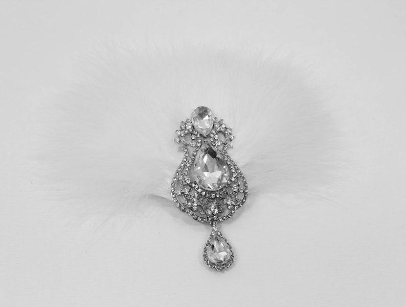 Gatsby hair piece feather fascinator White feather hair clip 1920s 20s headpiece Wedding bridal fascinator Vintage style hair piece
