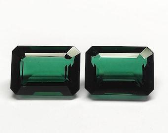 1.45 Carat Dark Green Natural Tourmaline Octagon Shape 7.20x5.40 MM Faceted Gemstone Loupe Clean Tourmaline  Jewelry Making Loose Gemstone