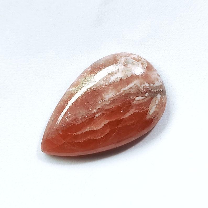 Rhodochrosite Cabochon Pear Stone Figured Rhodochrosite Gemstone For Jewelry Making 33x21x6mm