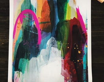 "CS Original Abstract Print, Titled ""Deconstructed Paradise"""