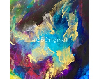 "CS Original Abstract Print titled ""Overcomer"""