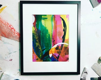 CS Original Abstract Print on Fine art gloss paper, Size 11x14 inches