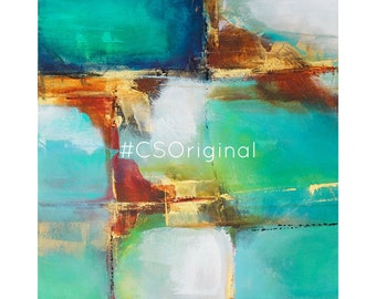 """CS Original Abstract Print titled """"it Takes a Village"""""""