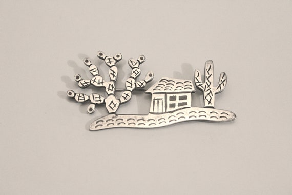 Sterling Silver Cactus Pin