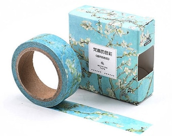 Apricot Blossoms Washi Tape, Apricot Flowers Washi Tape, Almond Flowers Washi Tape, Flowers Washi Tape